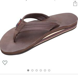 Like new expresso Rainbow sandals